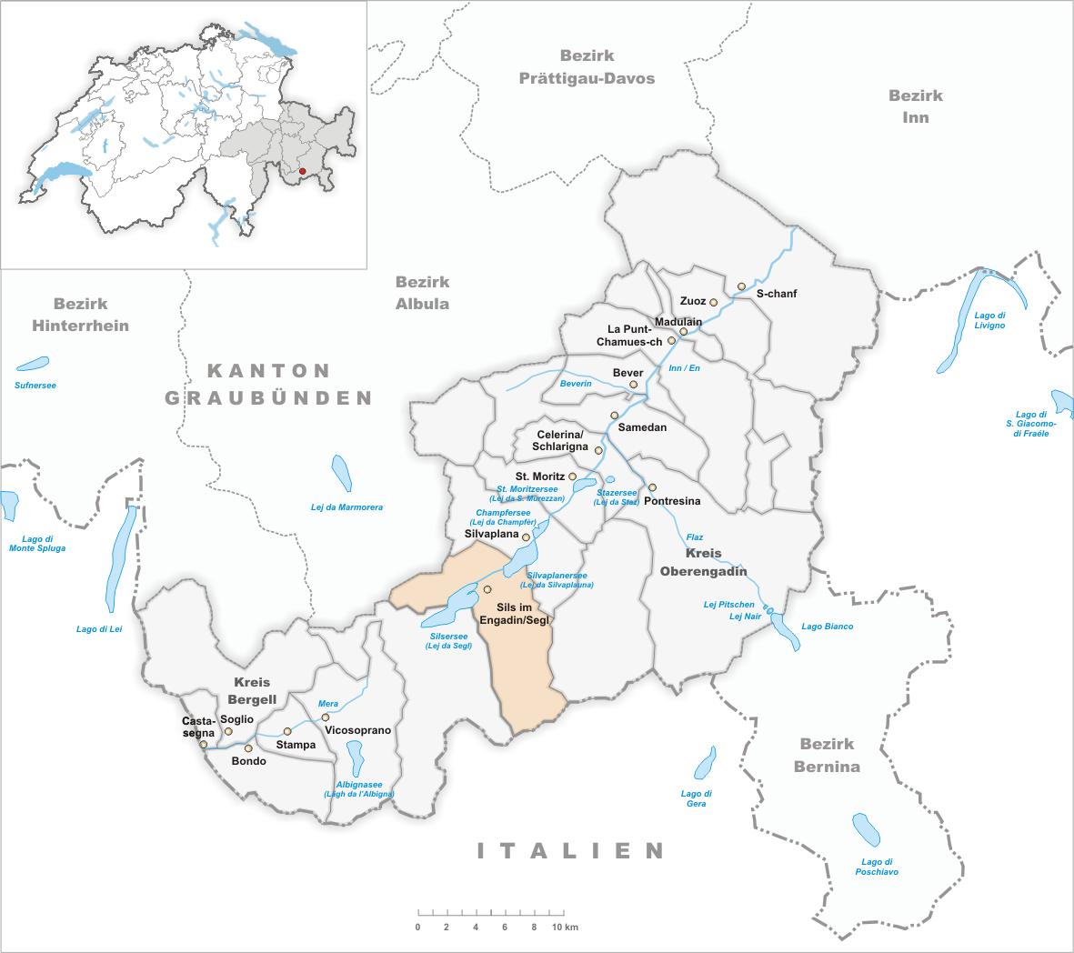 engadin karte File:Karte Gemeinde Sils im Engadin Segl 2007.png   Wikimedia Commons