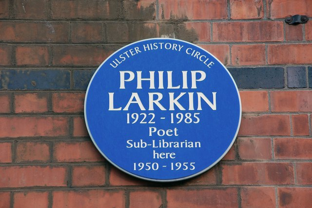 Larkin plaque, Belfast - geograph.org.uk - 596930
