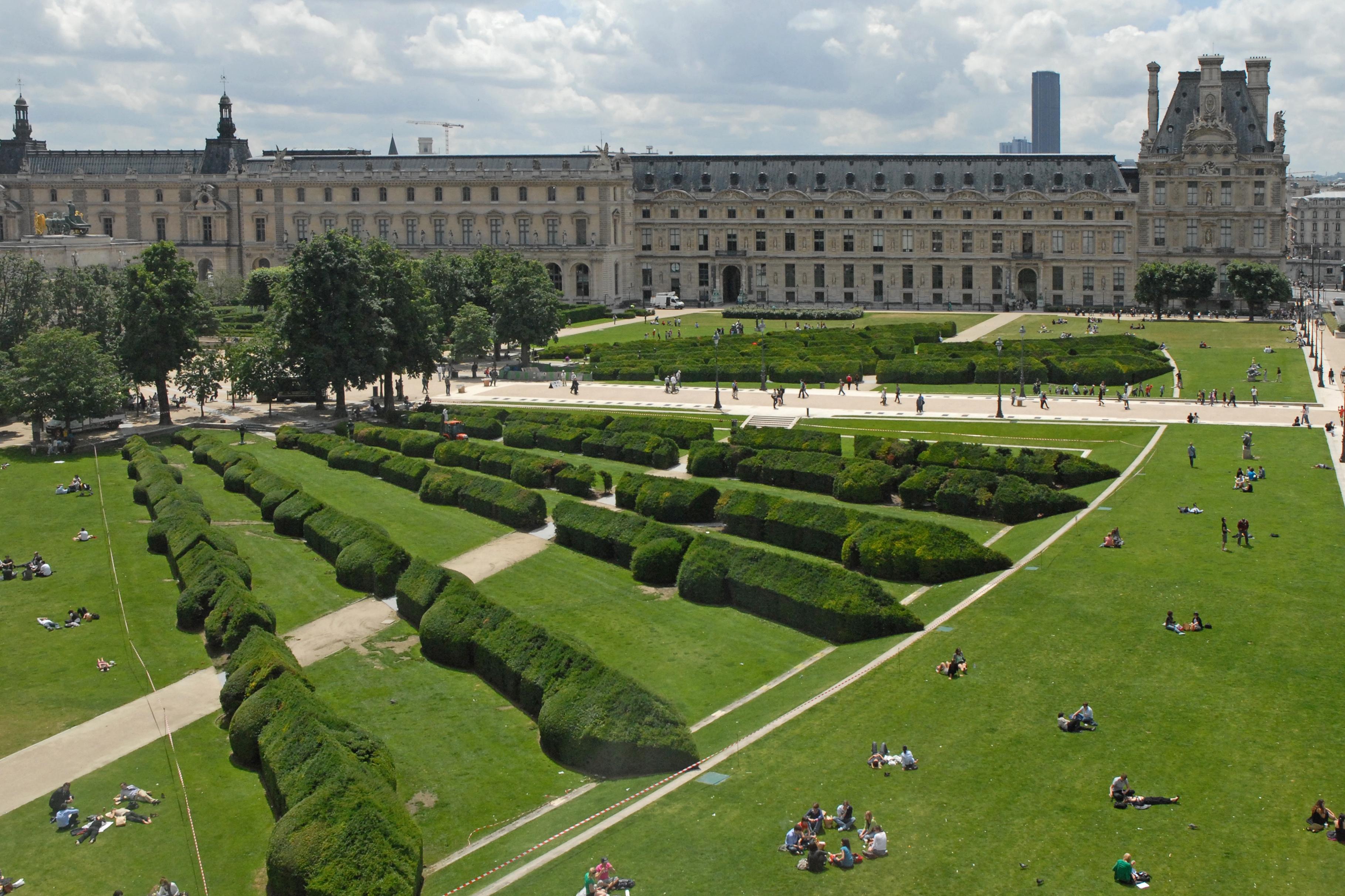 File le jardin du carrousel et le mus e du louvre juin - Les jardins du louvre ...