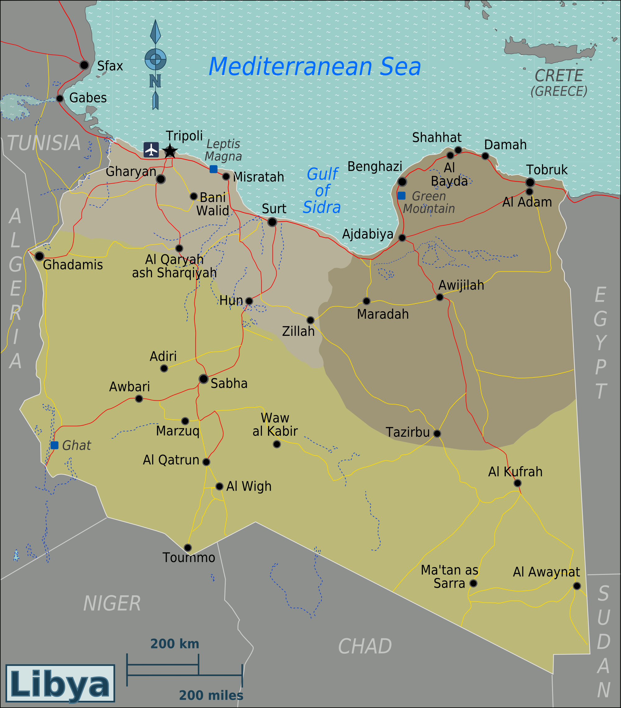 FileLibya Regions mappng Wikimedia Commons