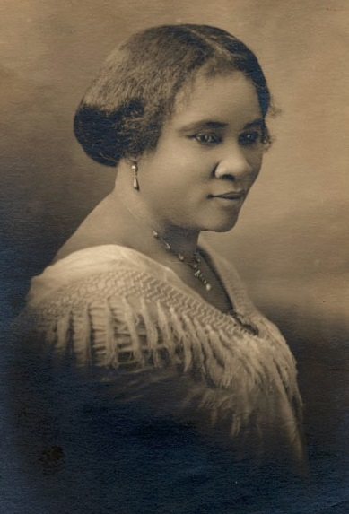 Madam CJ Walker face circa 1914