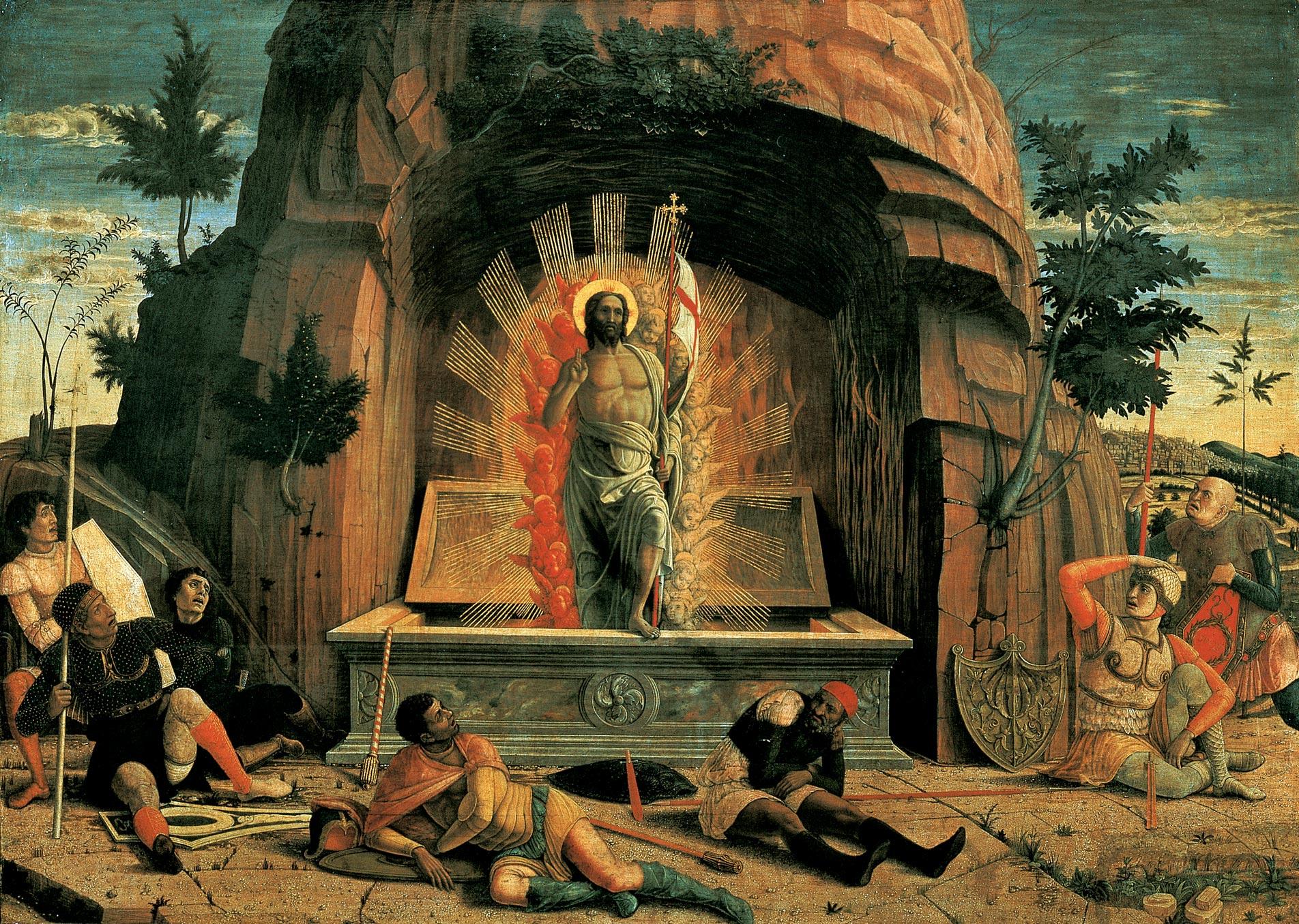 Andrea Mantegna s  Resurrection.