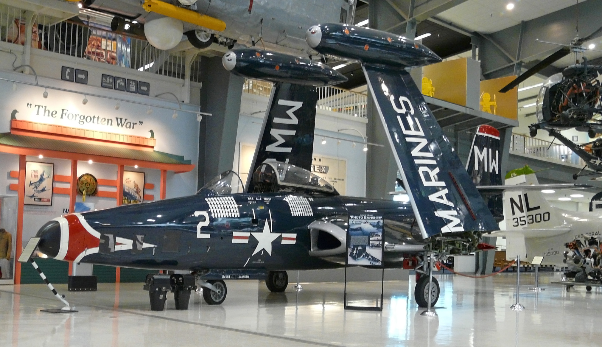 File:McDonnell F2H-2P Banshee, Naval Aviation Museum, Pensacola, Florida.jpg - Wikimedia Commons