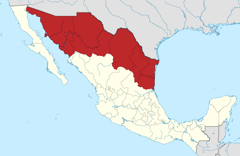 Northern Mexico Map File:Mexico Wikivoyage locator maps   Northern Mexico.png
