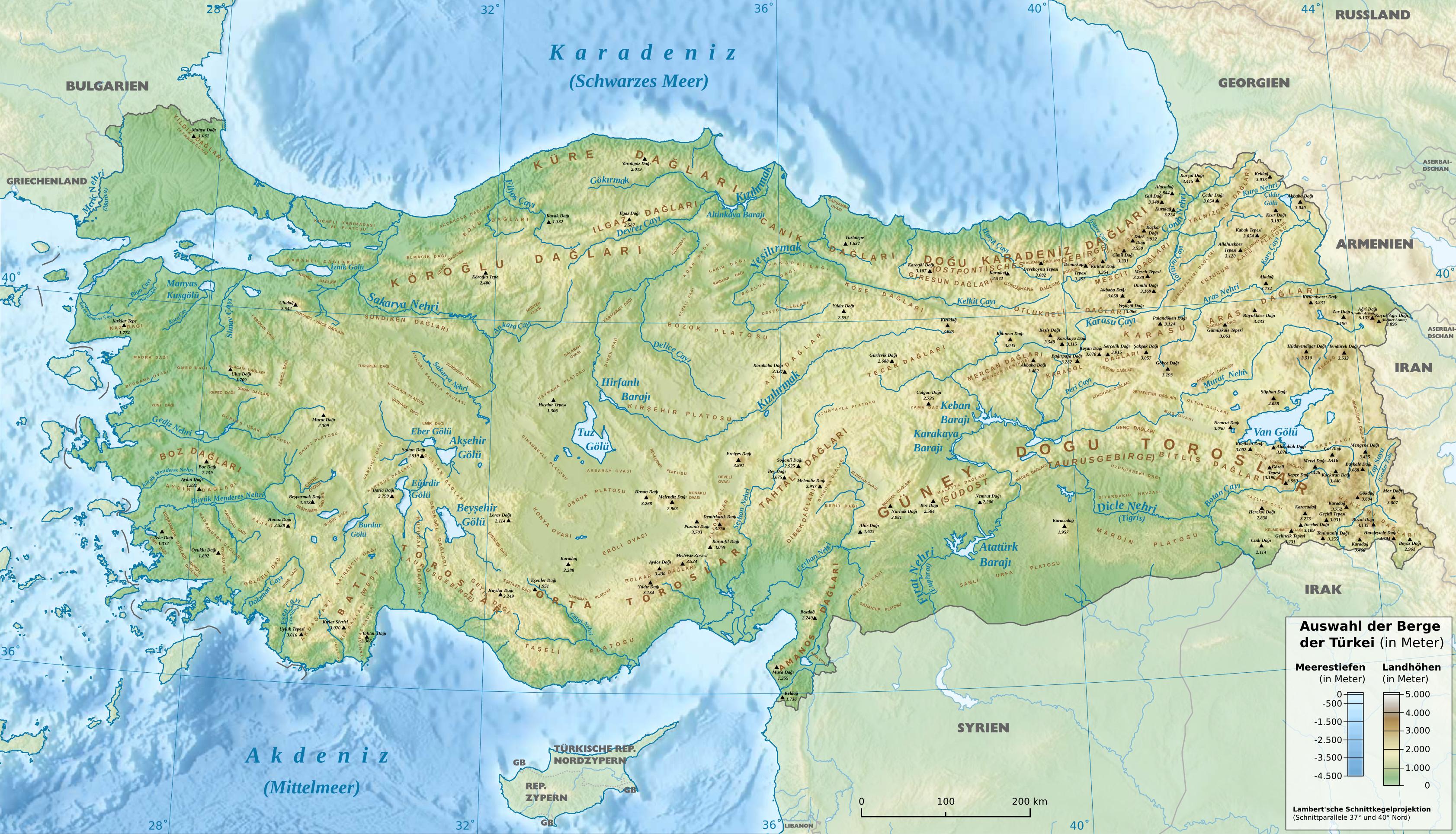 Descripción mountains of turkey