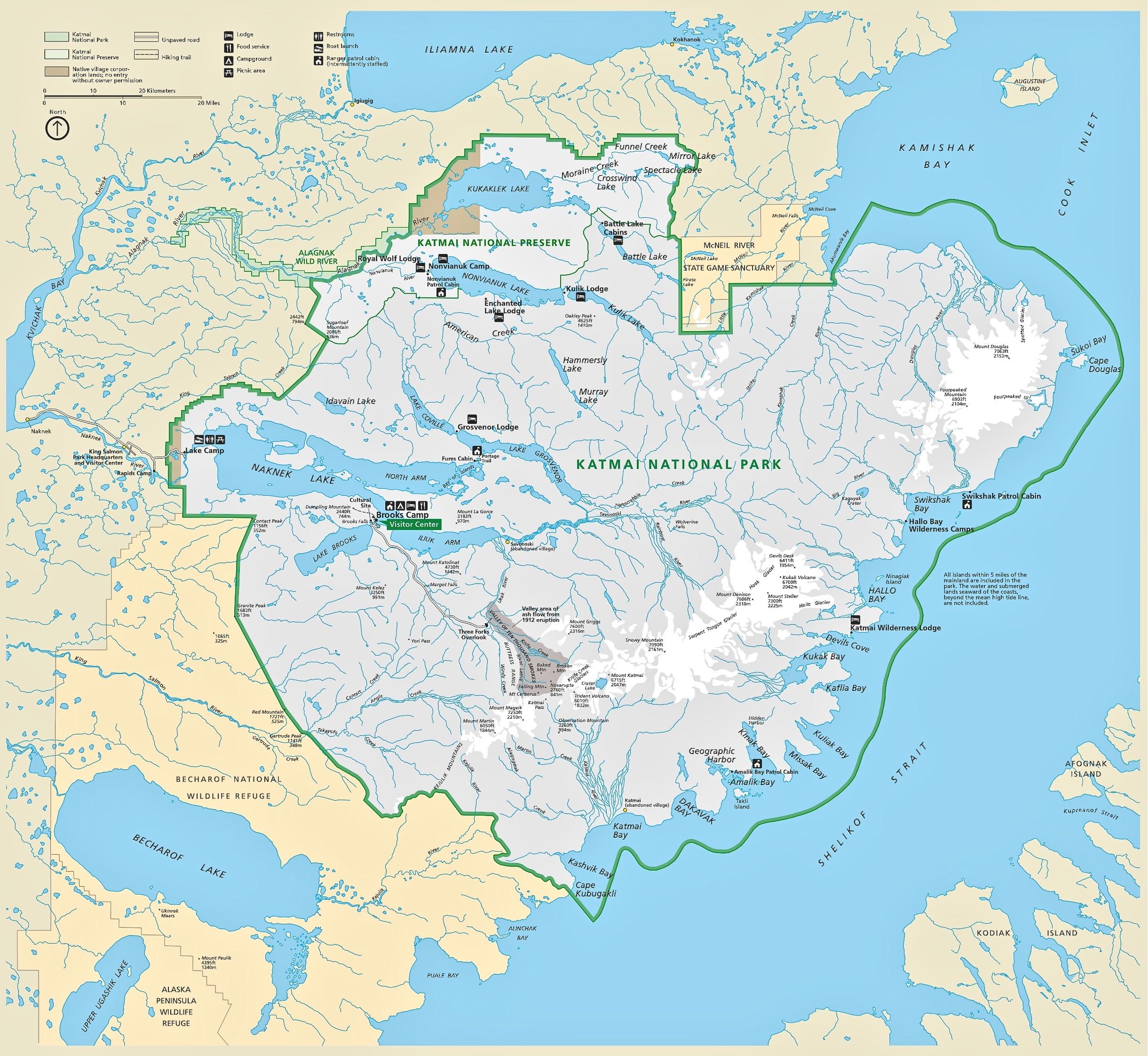 Filenps Katmai Flat Mapjpg Wikimedia Commons - Us-flat-map