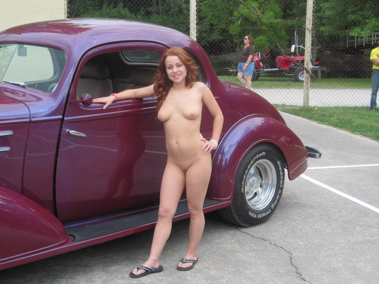 Cars hot girls rod topless with