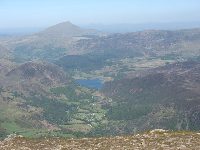 Nant Gwynant from the Summit of Moel Hebog - geograph.org.uk - 234403