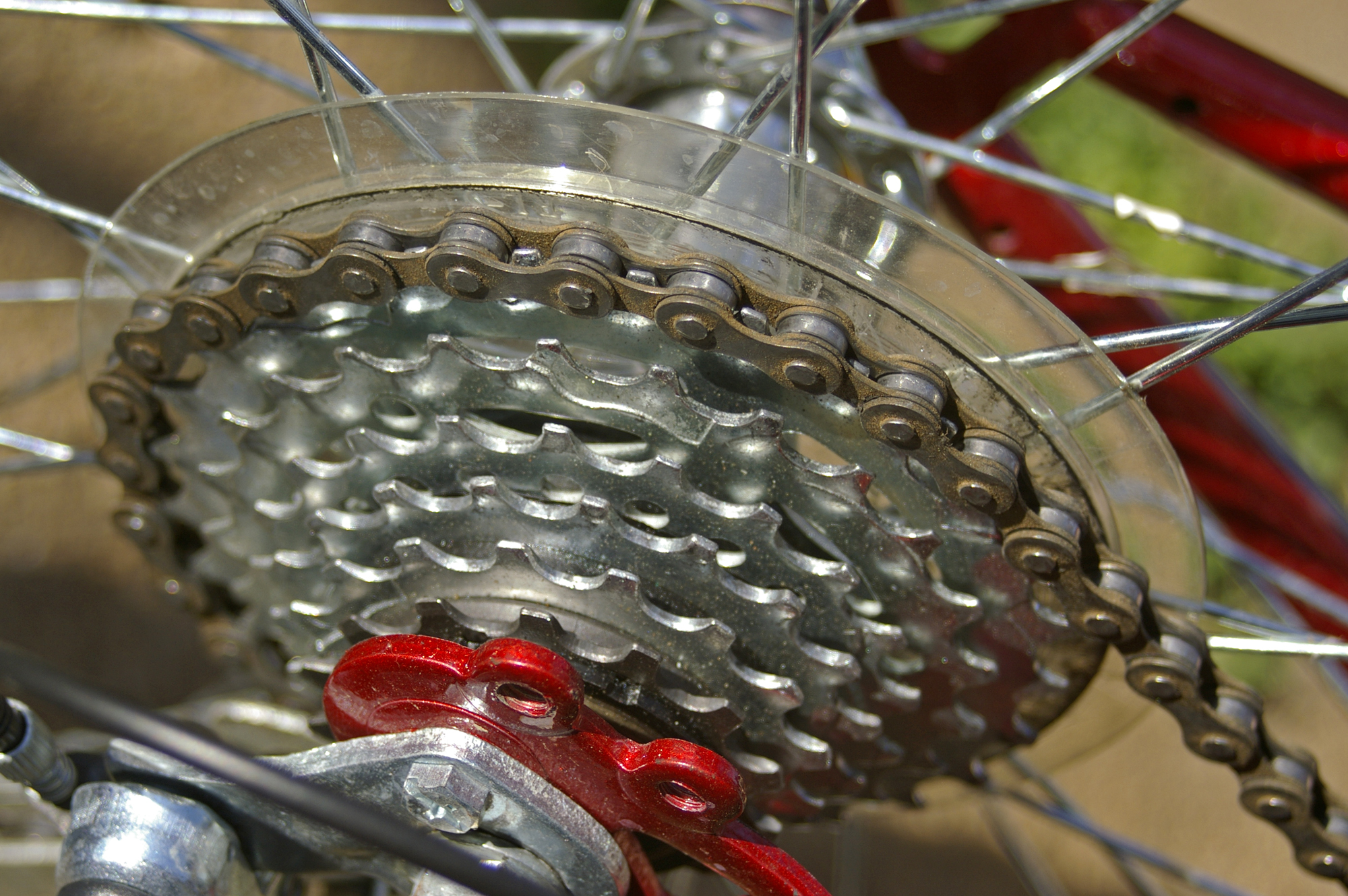 how to put on a 18 speed bike chain