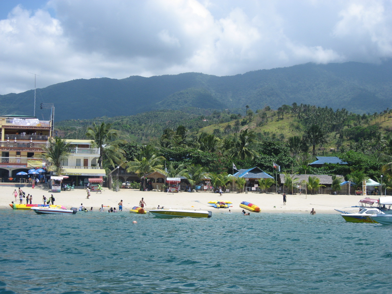 Puerto Galera Philippines  city images : PH Puerto Galera White Beach from sea 2 Wikipedia ...
