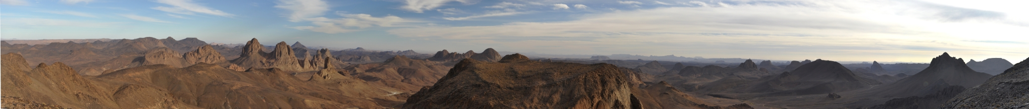 Panorama of the Ahaggar mountains