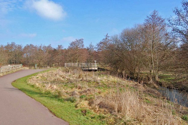 Path beside river Crane, Moors Valley Country Park, Dorset - geograph.org.uk - 1175307