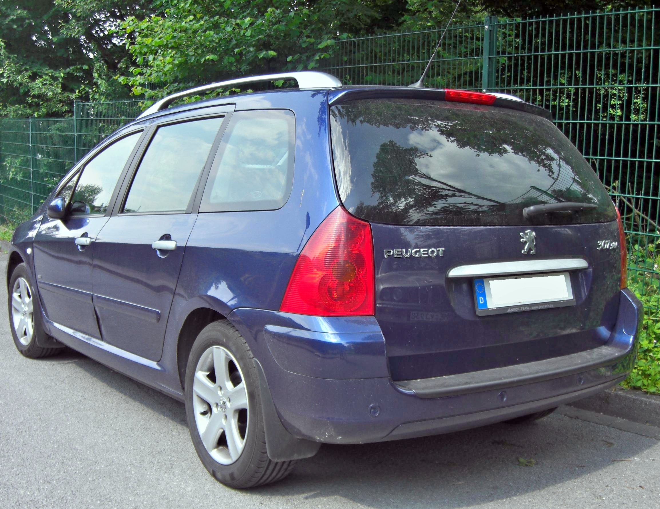 file peugeot 307 sw rear jpg wikimedia commons
