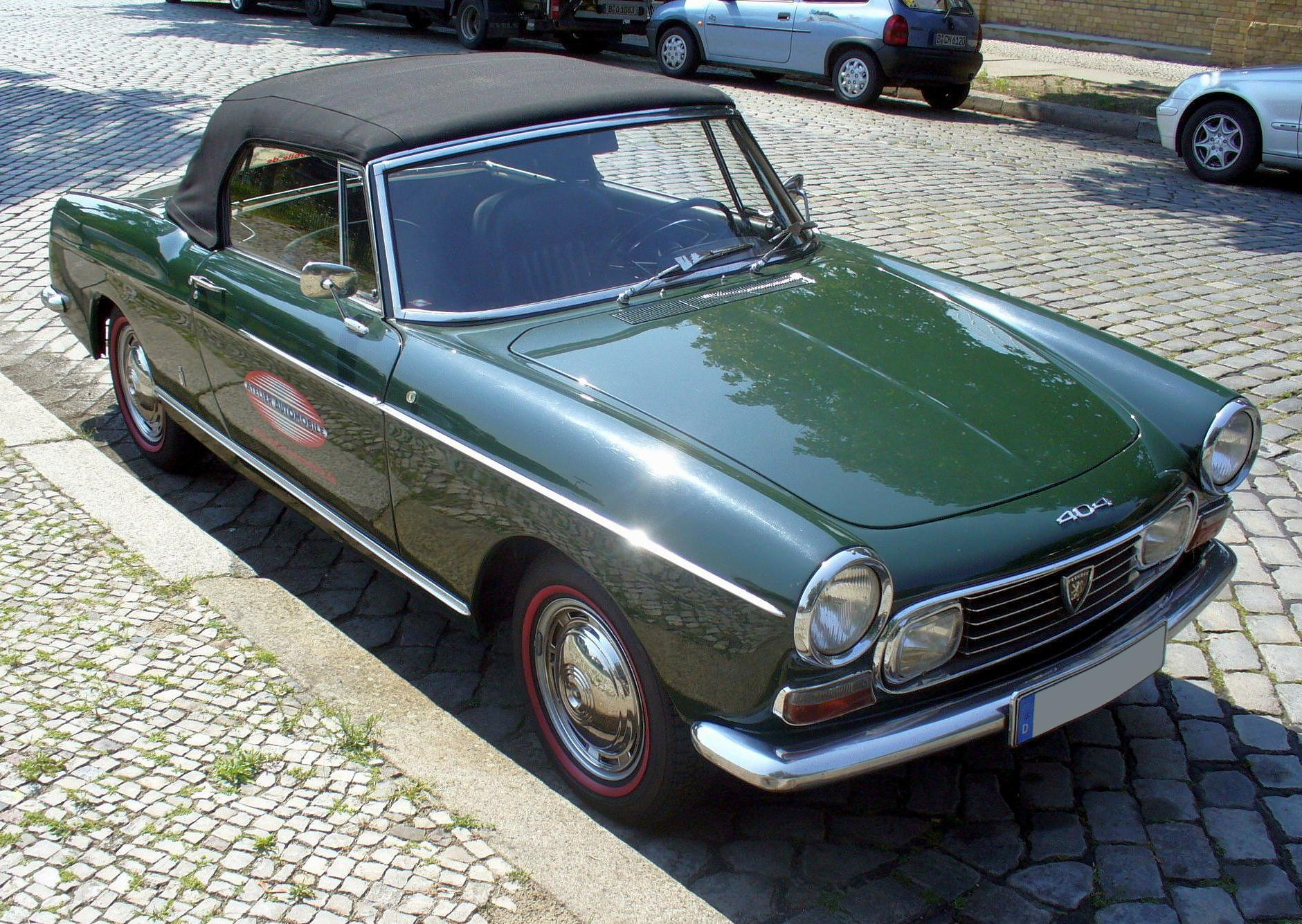 file peugeot 404 cabriolet jpg wikimedia commons. Black Bedroom Furniture Sets. Home Design Ideas