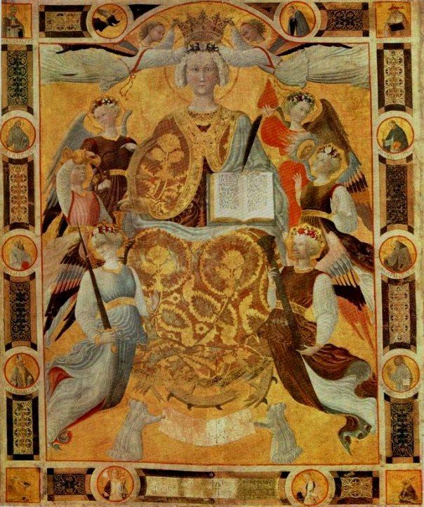 Pietro di Giovanni d'Ambrogio. St. Catherine in Glory. 1440-45 Musee Jackemart-Andree, Paris..jpg