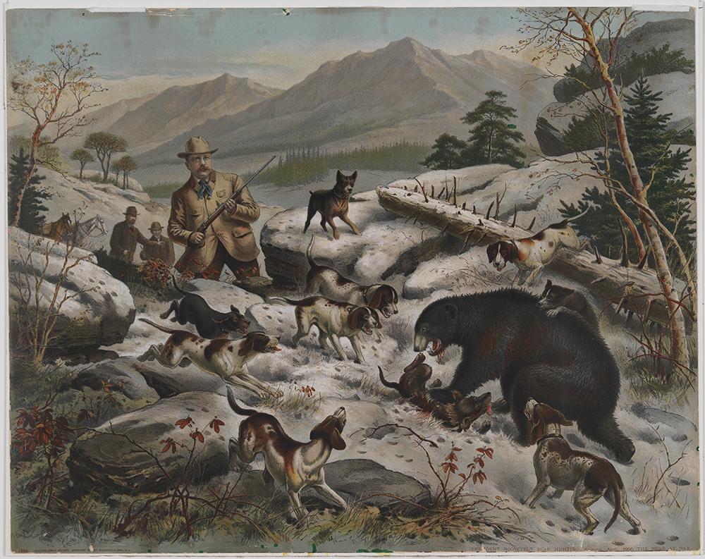 President Roosevelt Bear Hunting C The Bear At Bay
