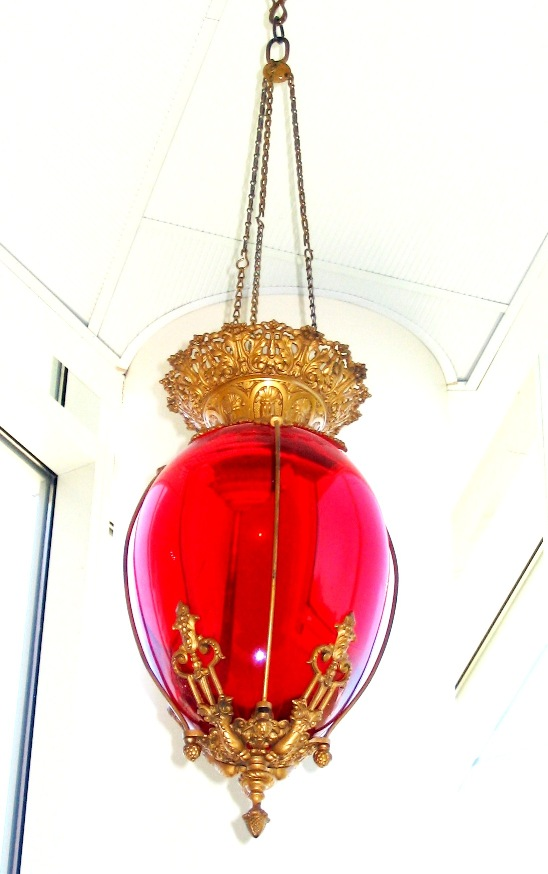 Red Hanging Show Globe