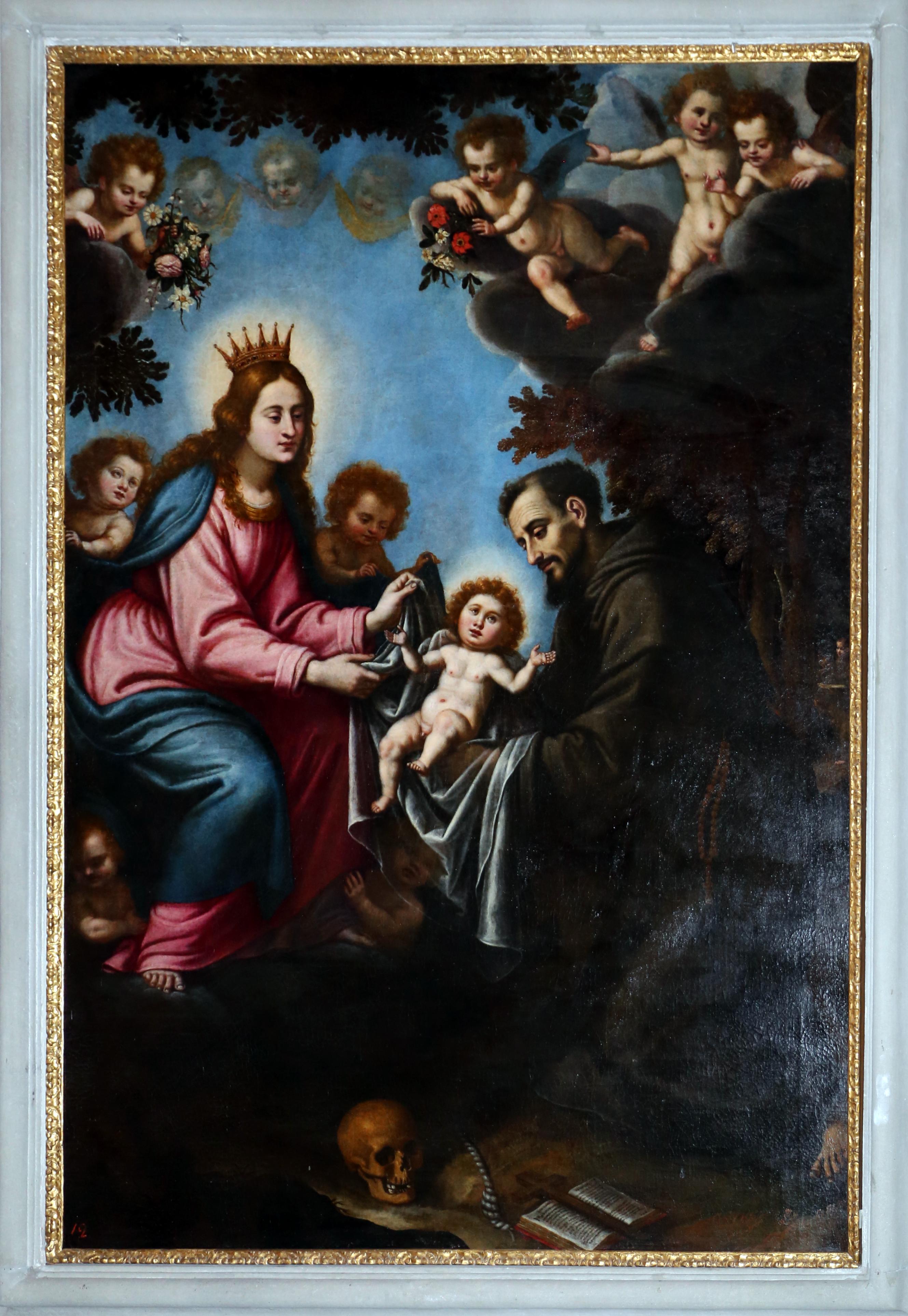 Gesu Bambino Dalla.File Scuola Del Rosselli San Francesco D Assisi Riceve Gesu Bambino Dalla Madonna 1600 50 Ca 01 Jpg Wikimedia Commons