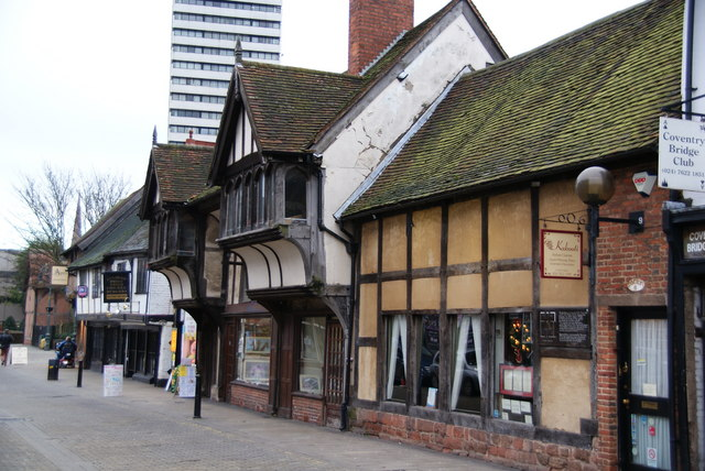 English: Spon Street, Coventry Historical buil...