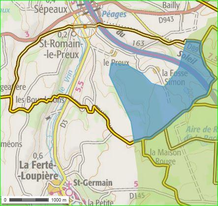 Saint-Romain-le-Preux, Yonne, Burgundy, France. Area on the commune occupied by the ''ZNIEFF des étangs, prairies et forêts du Gâtinais sud oriental.