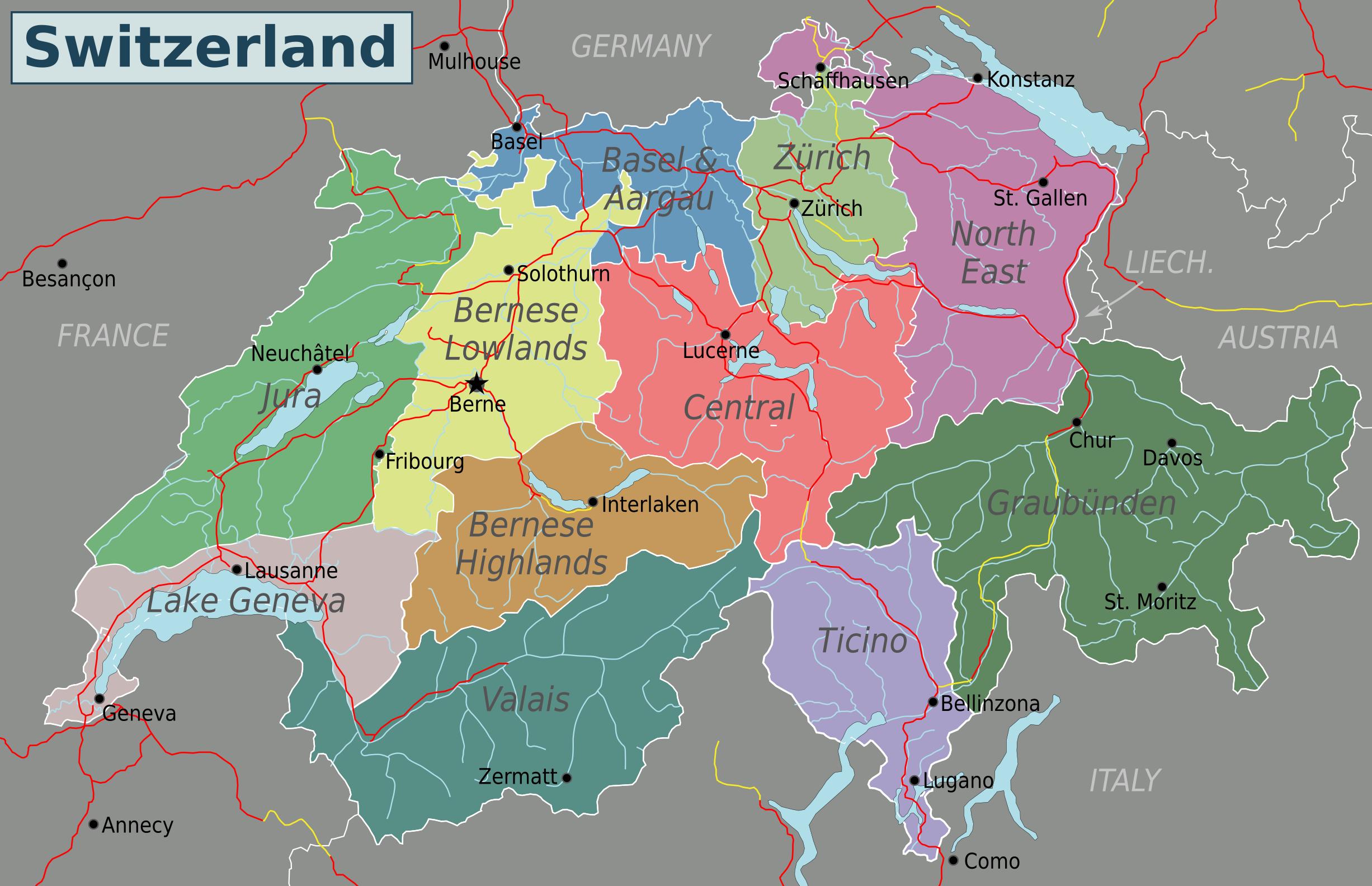 FileSwitzerlandmappng Wikimedia Commons - Switzerland map