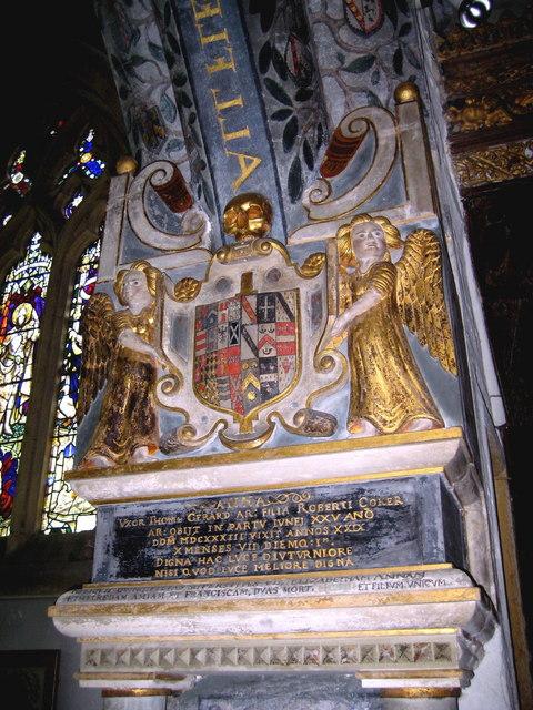 File:Thomas Gerard's memorial to his wife - Trent - geograph org uk