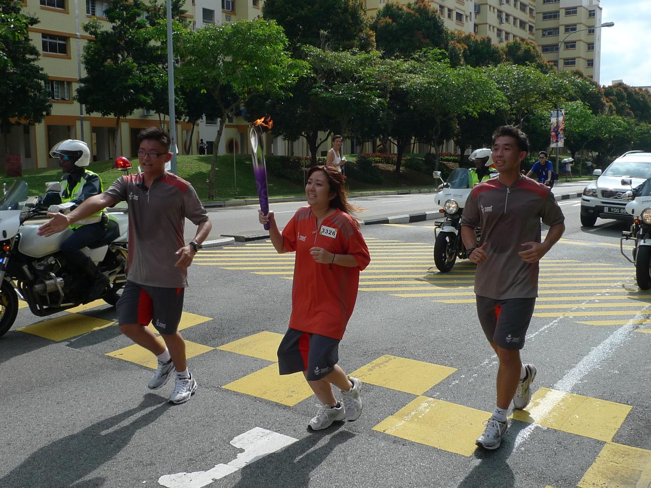 Olympic torch relay freebies