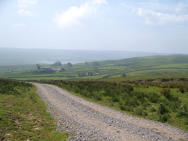 Track leading to B6276 - geograph.org.uk - 455294