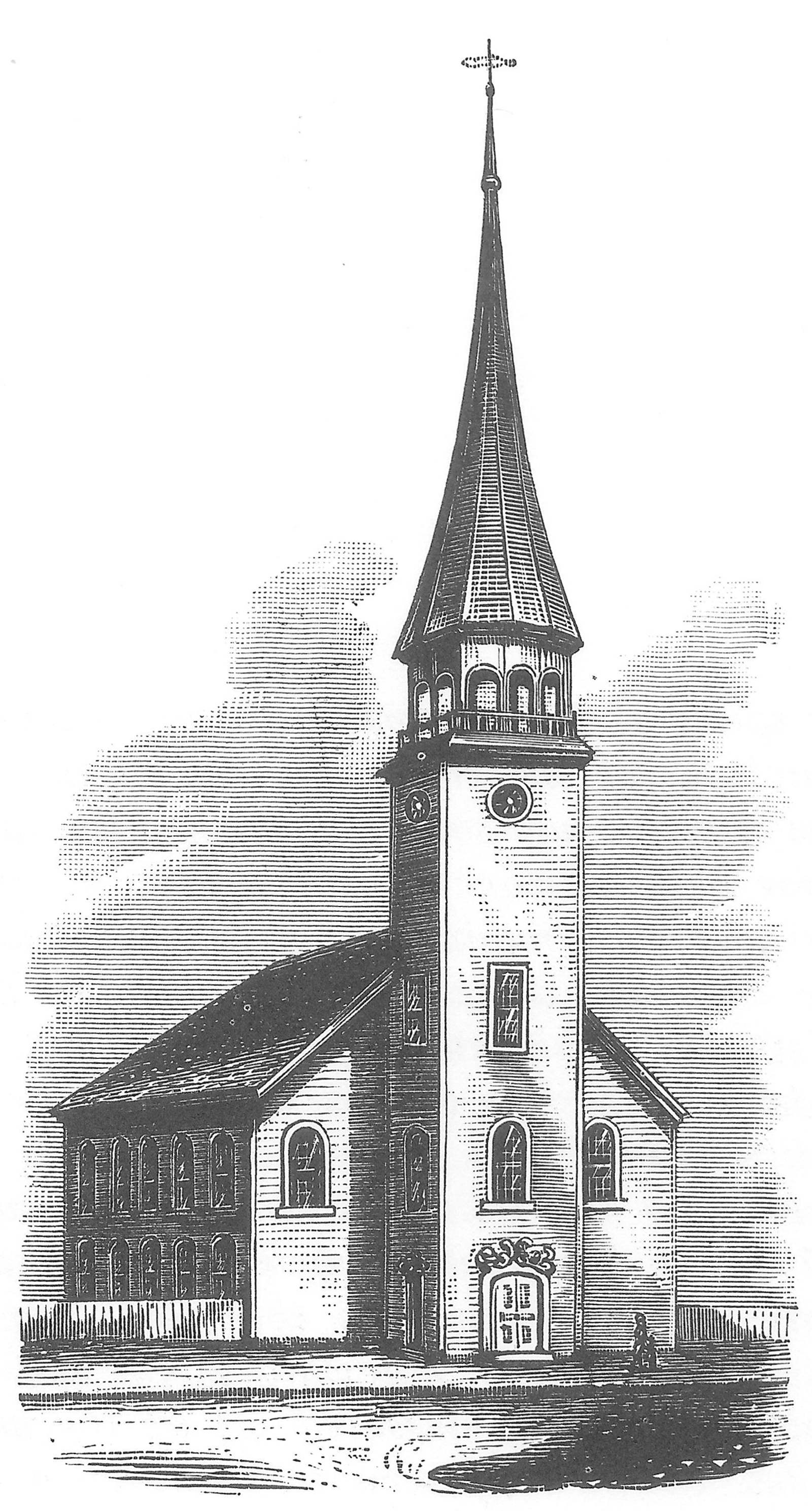 Attractive Church Of The Covenant Nyc #2: Trinity_Church_New_Haven_First_Wooden_building_1752-1753.jpg