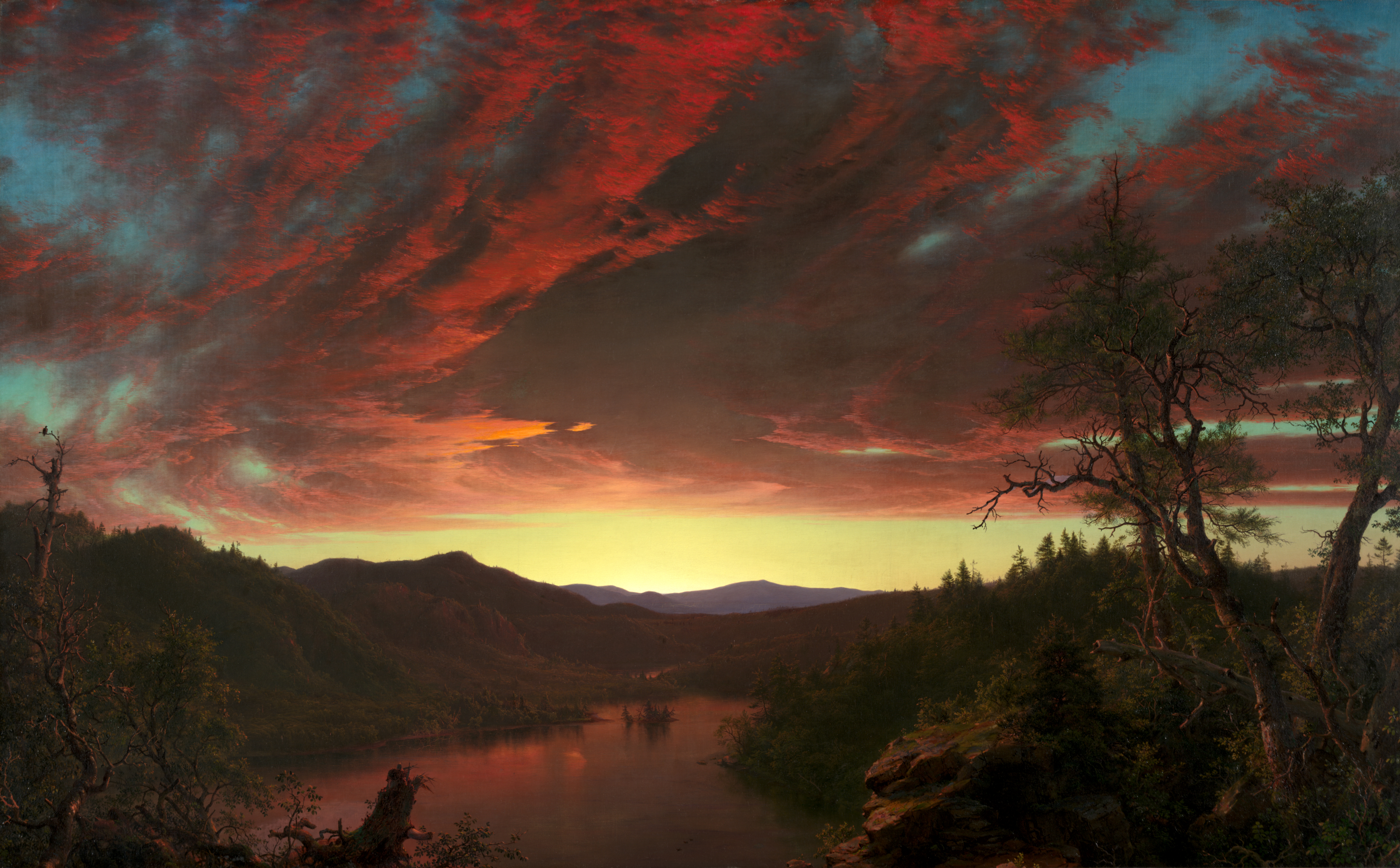 Twilight in the Wilderness, Frederic Edwin Church, 1860