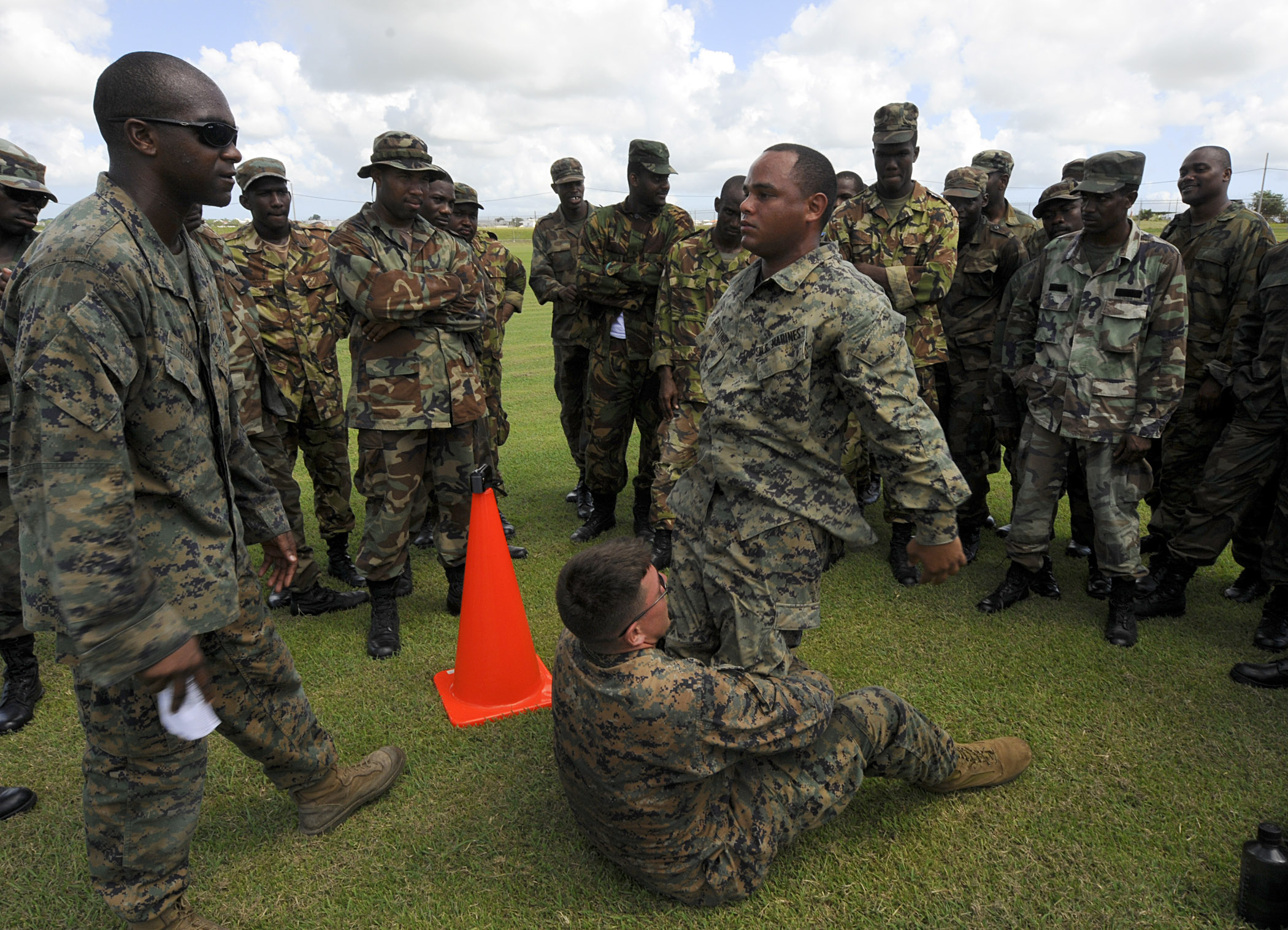 File:U.S. Marine Corps Sgts. Georman Elder, left, Edan ...
