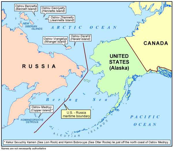 russia to alaska map Ussr Usa Maritime Boundary Agreement Wikipedia
