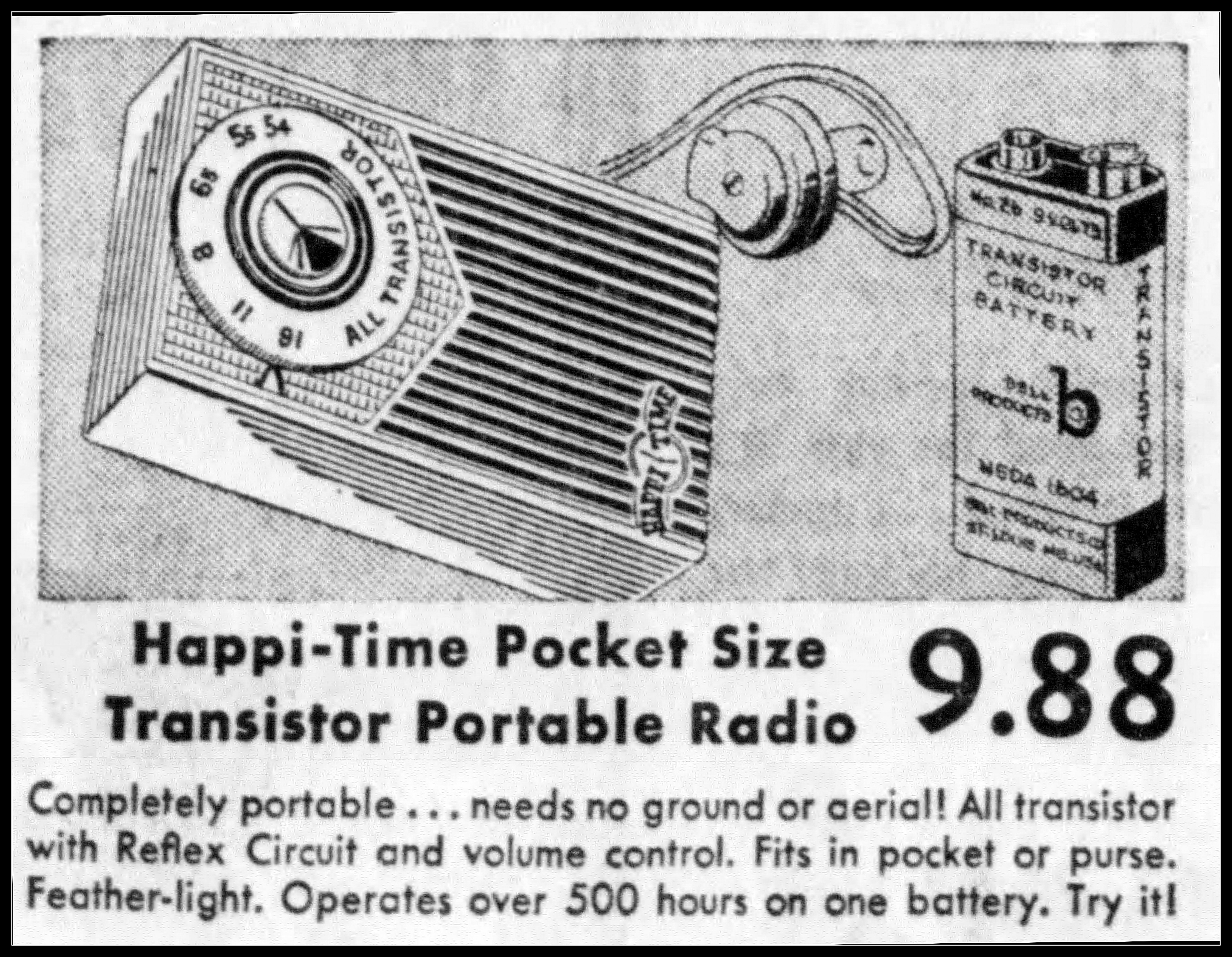 Filevintage Newspaper Advertising For The Happi Time Transistor One Radio By Bell Products Also