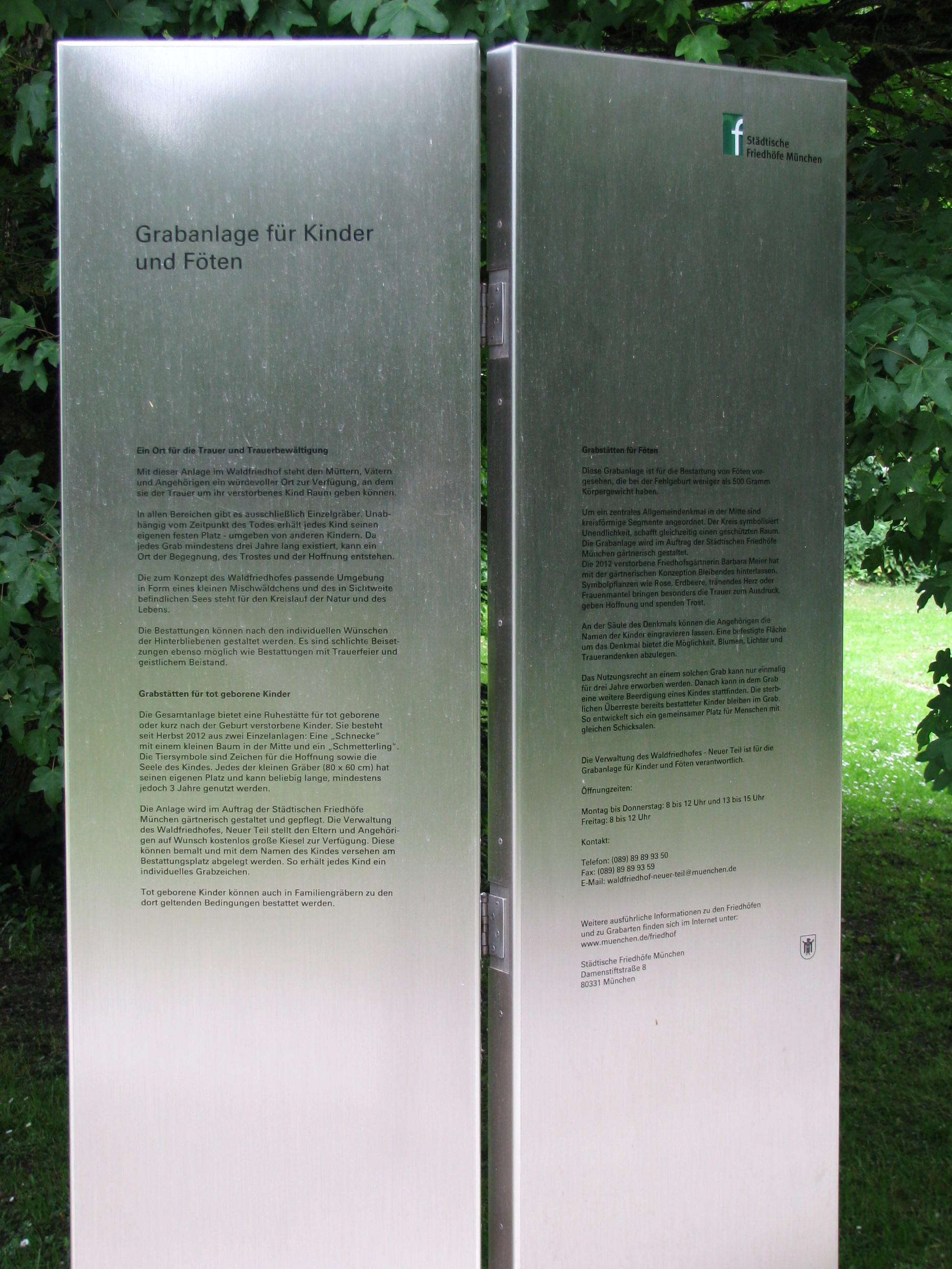 Filewaldfriedhof Grabanlage F Kinder U Föten Infojpg Wikimedia