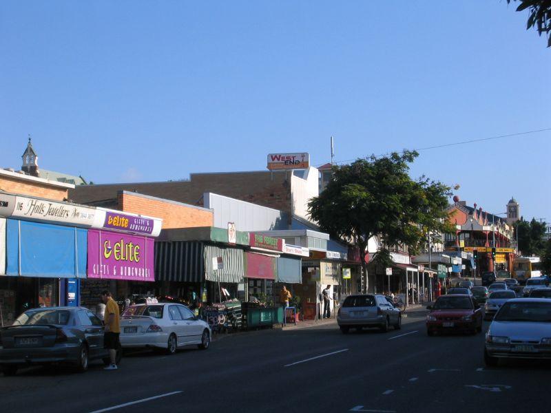 Shops lining Boundary Street