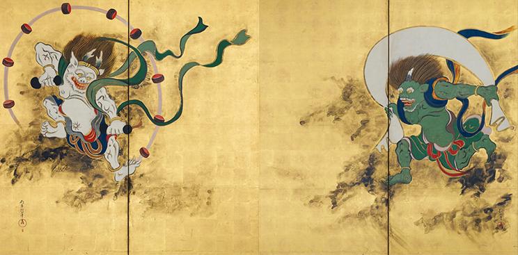 Wind God and Thunder God by Sakai H?itsu.png