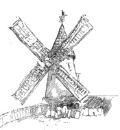 Image Result For Windmill Coloring Page