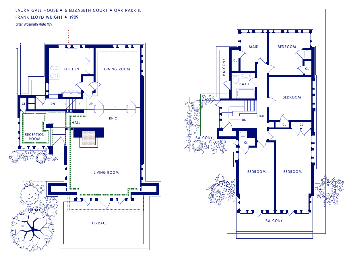 Frank lloyd wright floor plans house plans Frank home plans