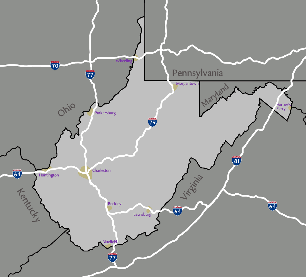 Major Cities Near Huntington Wv