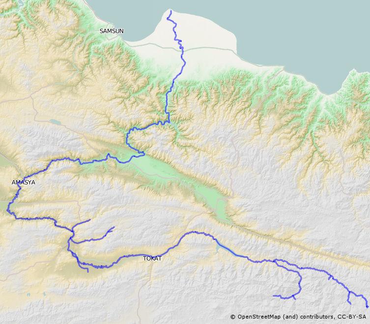 Yeilrmak river Wikipedia