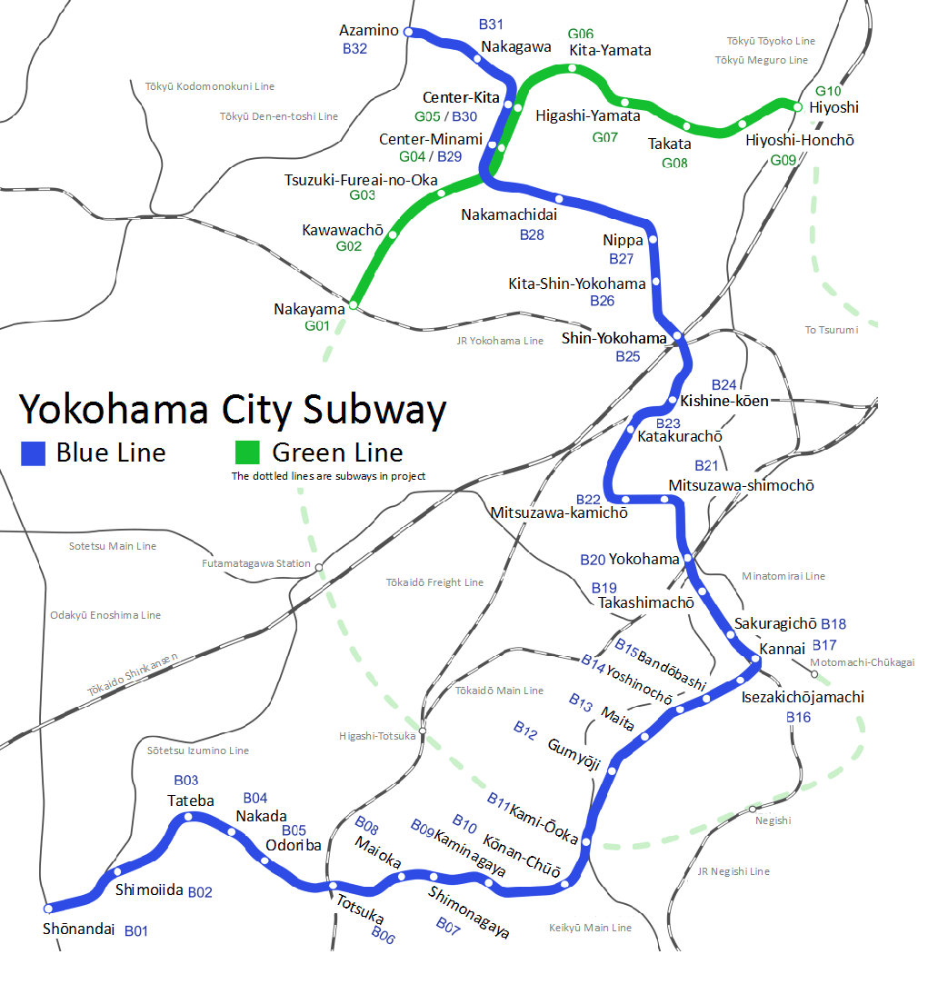 Yokohama Subway Map Pdf.Yokohama Municipal Subway Wikipedia