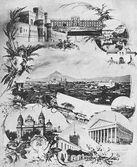 Estampas de la Ciudad de Guatemala en 1896, publicada en la revista.