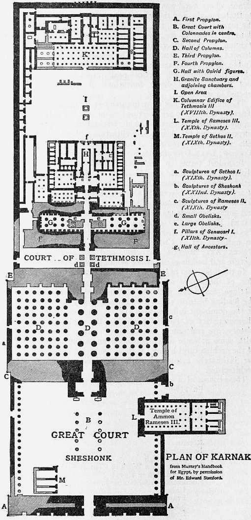 Britannica Architecture Plan Of Karnak Temple Amun Wikipedia