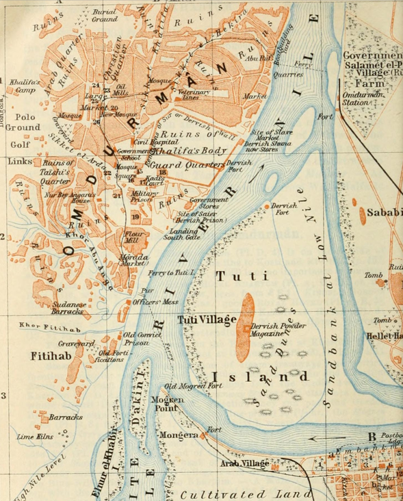 File1914 map Omdurman Sudan by Baedekerpng Wikimedia Commons