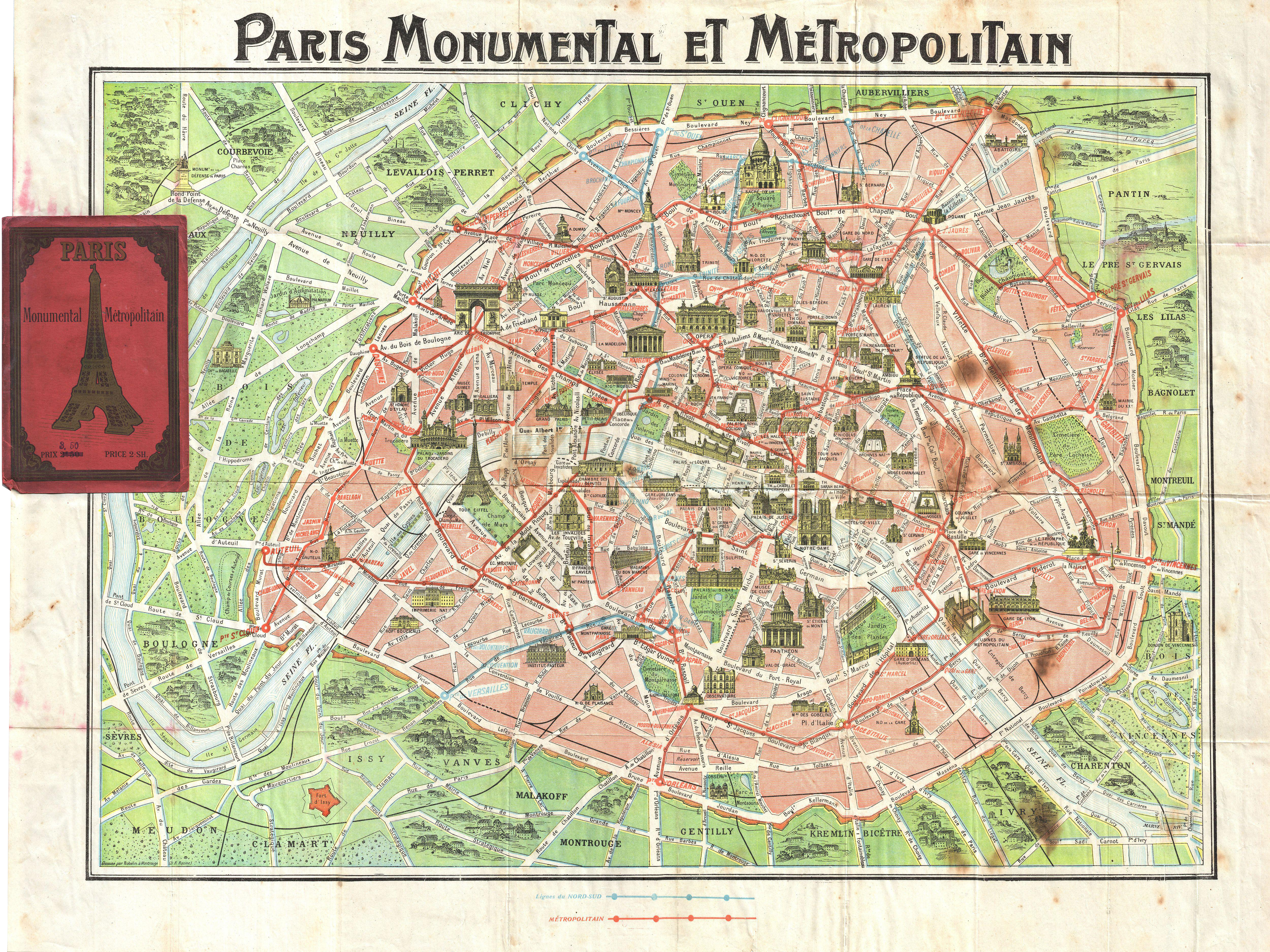 File 1920 robelin map of paris france geographicus for Paris carte touristique