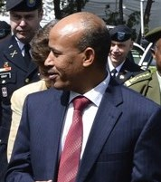 Amanda Dory, Deputy Assistant Secretary of Defense for African Affairs and Siraj Fergessa the Ethiopian Minister of Defense (cropped).jpg