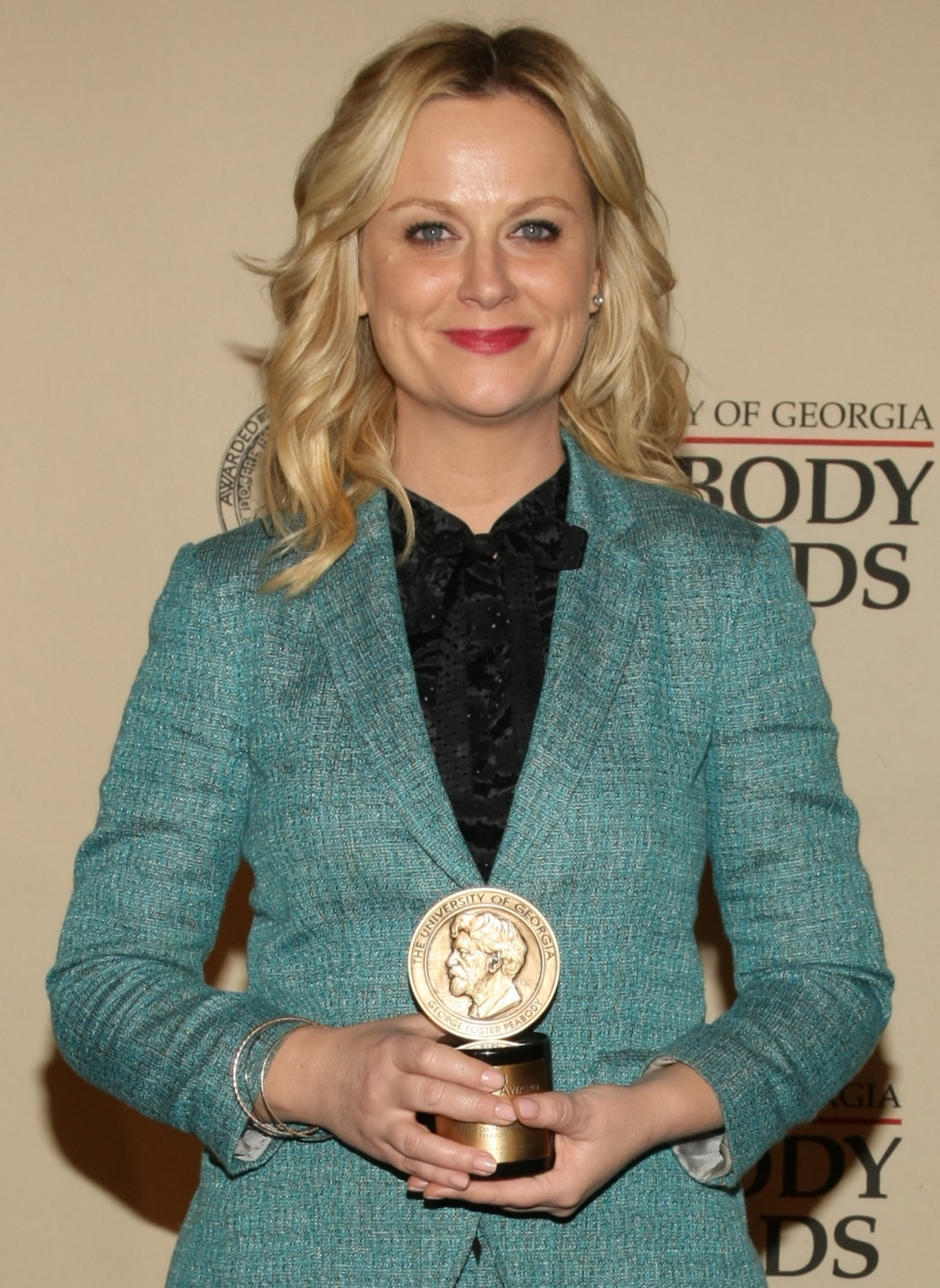Poehler at the 2012 Annual Peabody Awards.