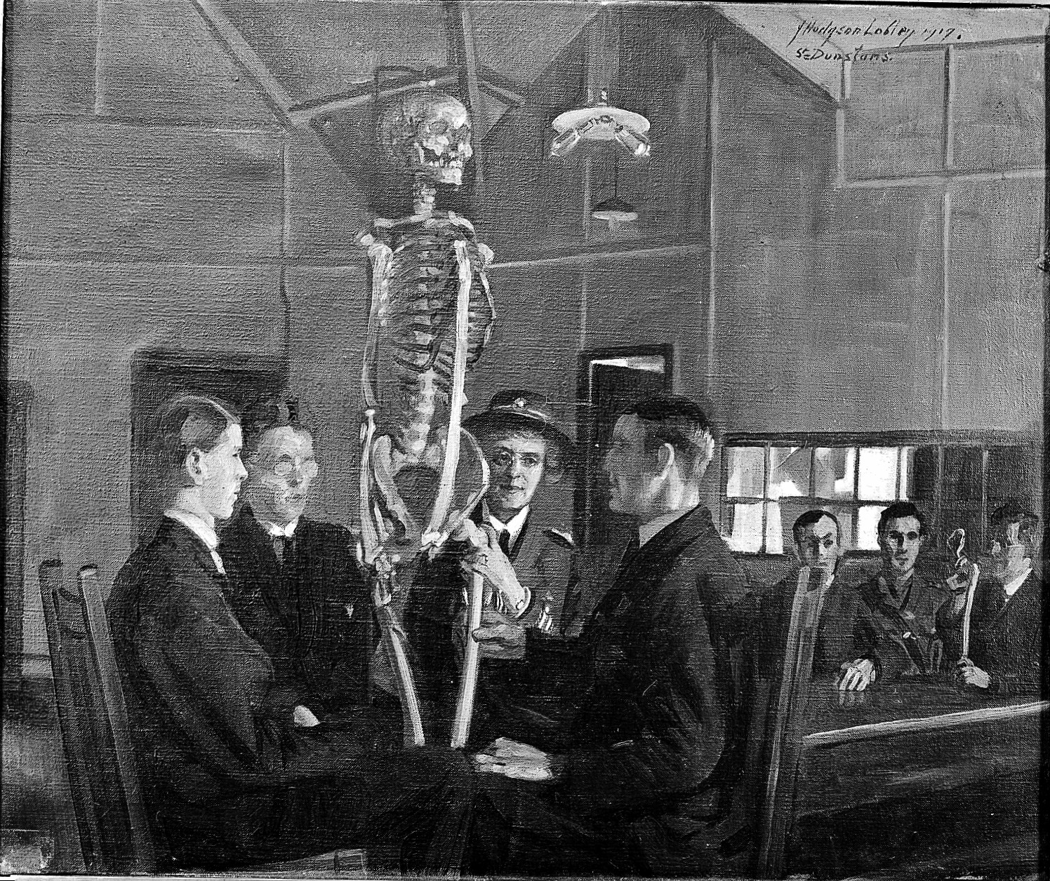 Fileanatomy Lessons At St Dunstans Oil Painting By Jh Lobley