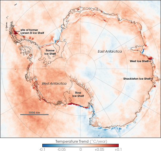 Antarctic Temperature Trend 1981-2007