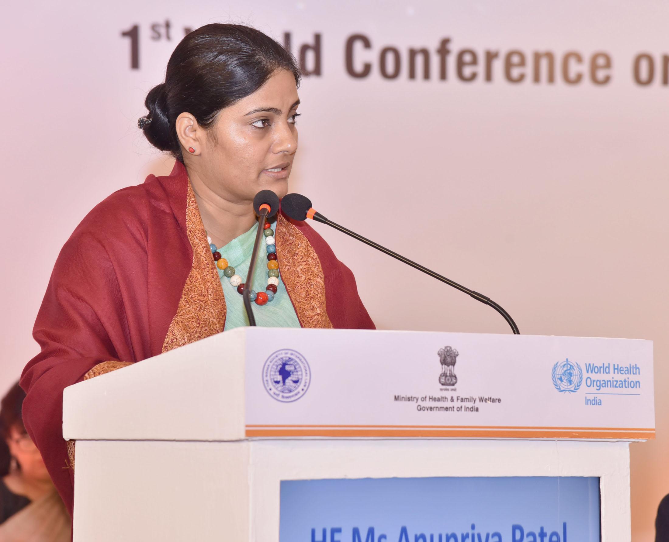 File:Anupriya Patel addressing the '1st World Conference on Access